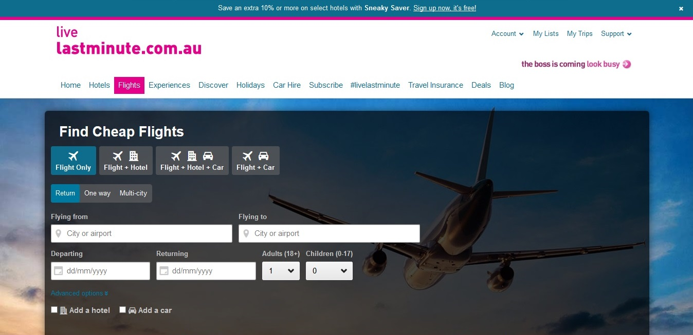 Lastminute.com.au Flights
