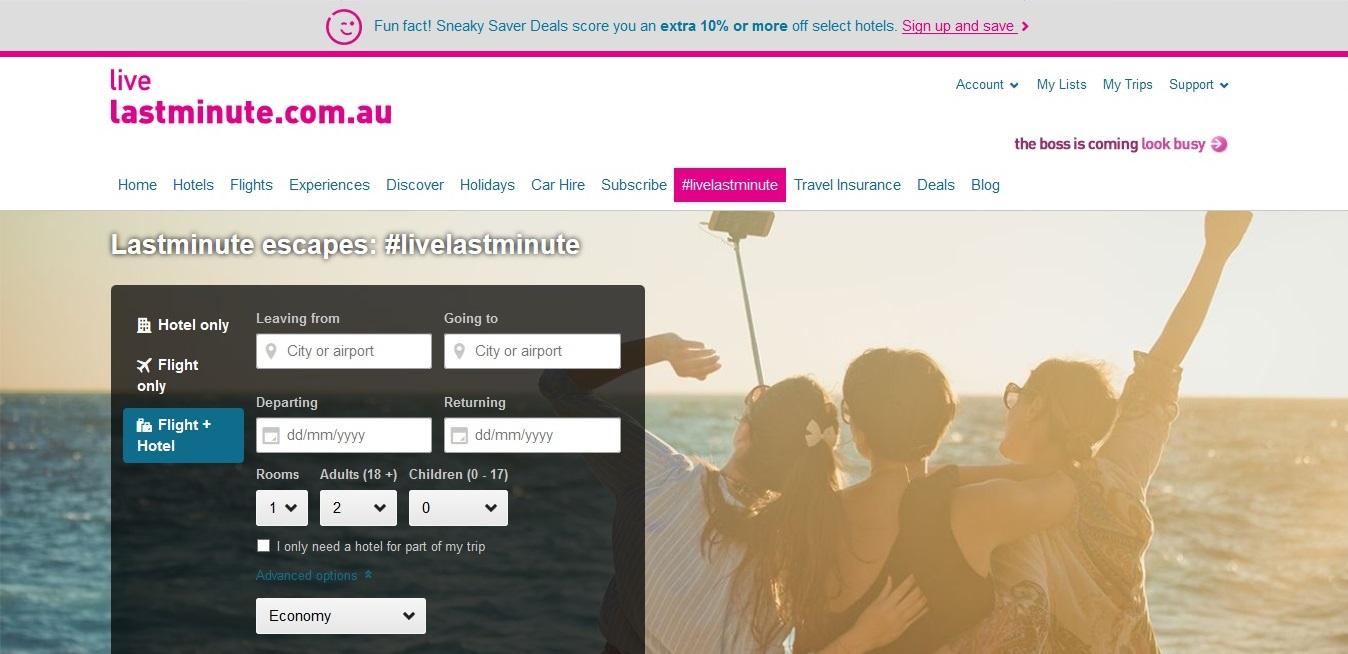 Lastminute.com.au #livelastminute