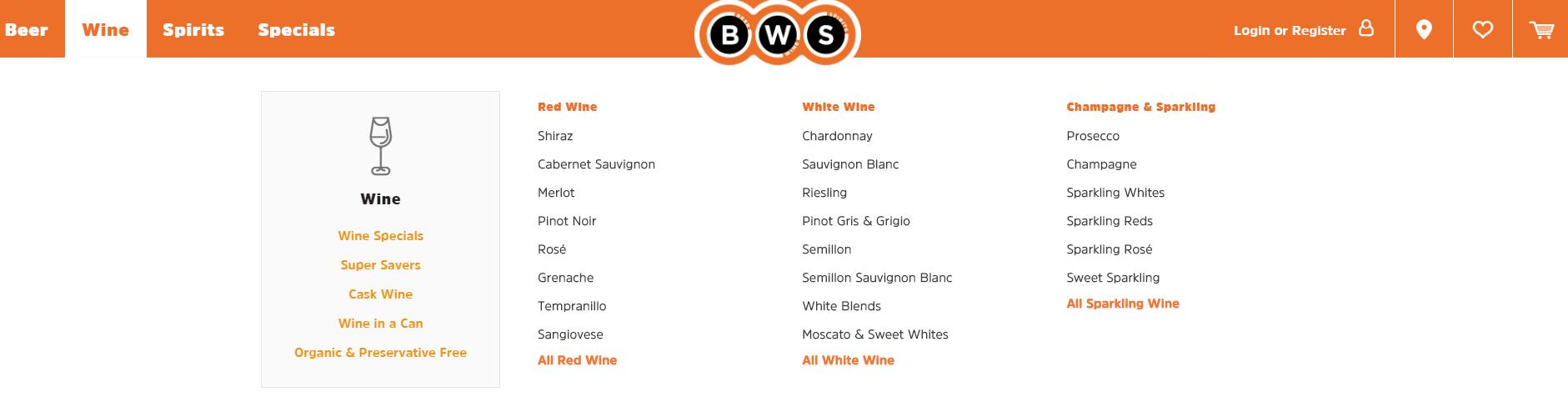 BWS Wine