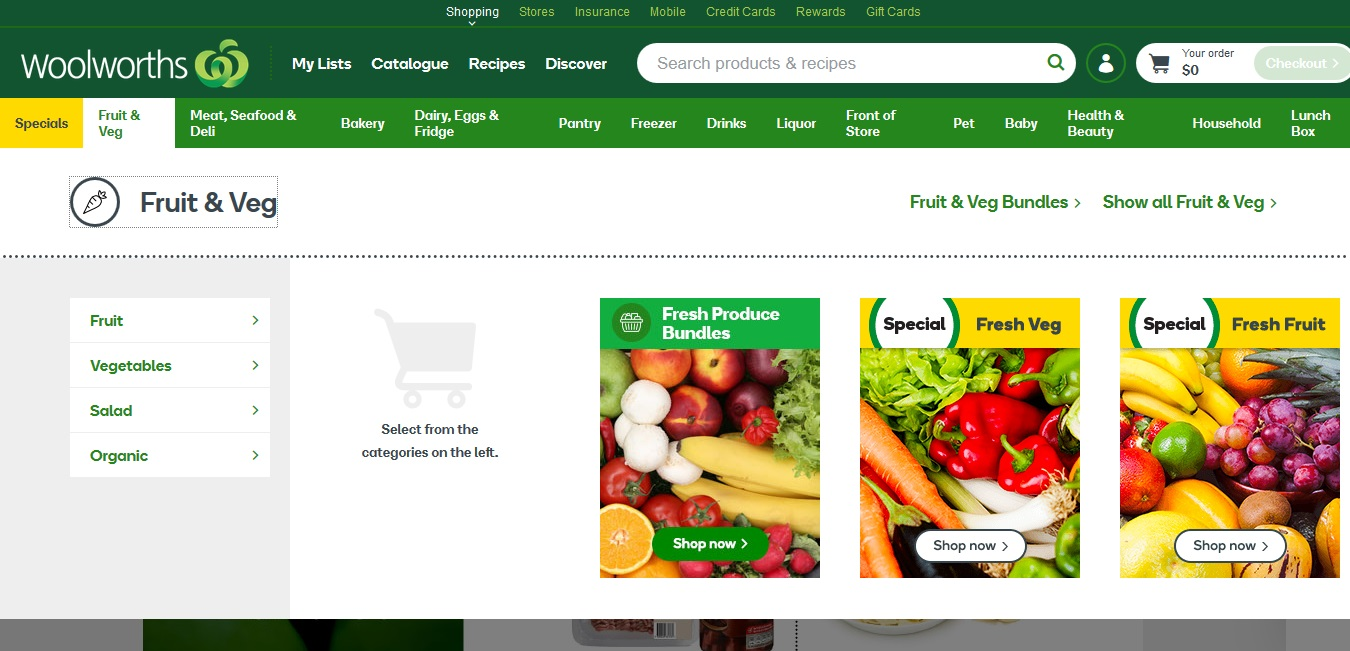 Woolworths Fruit and Veg