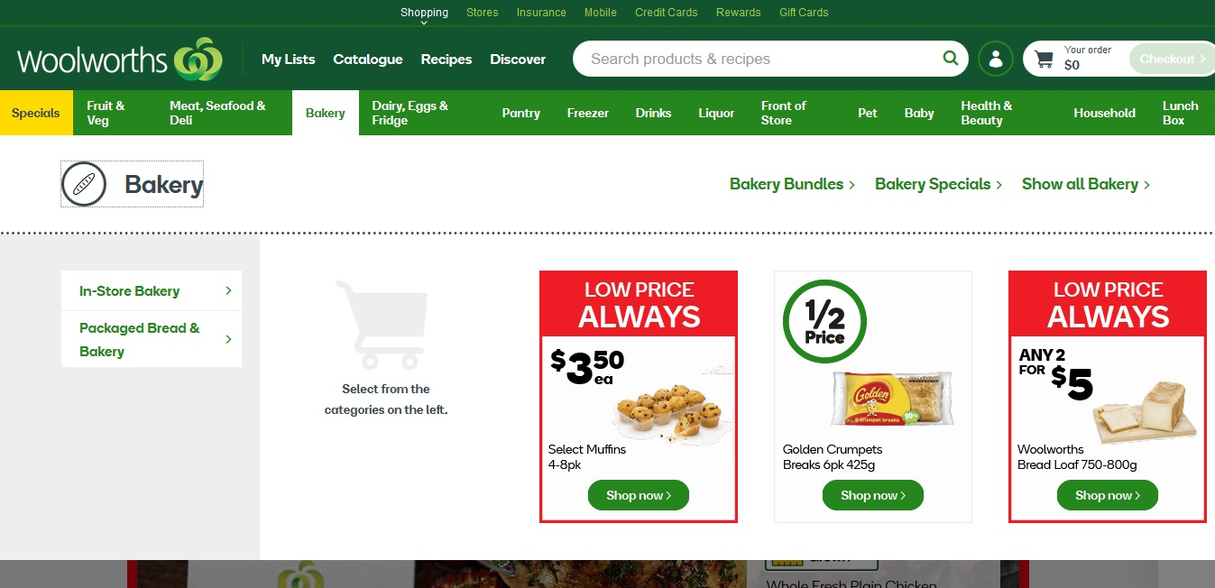 Woolworths Bakery
