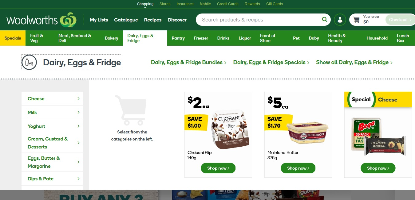 Woolworths Dairy