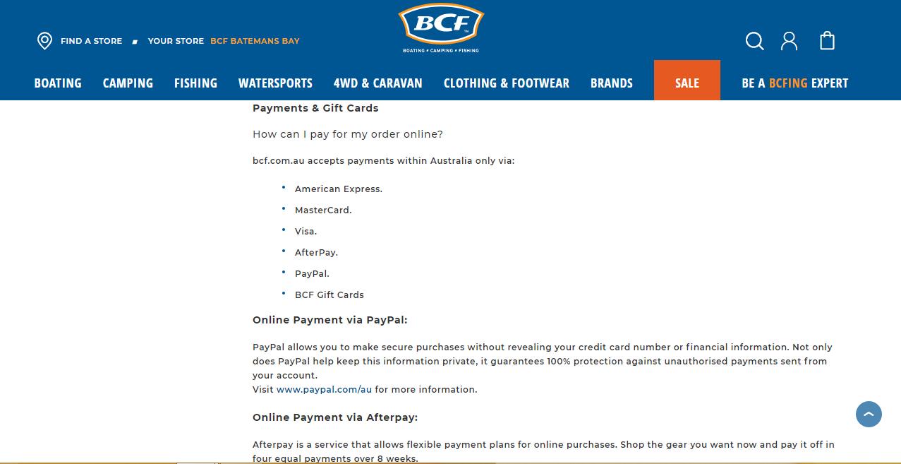 BCF Payment
