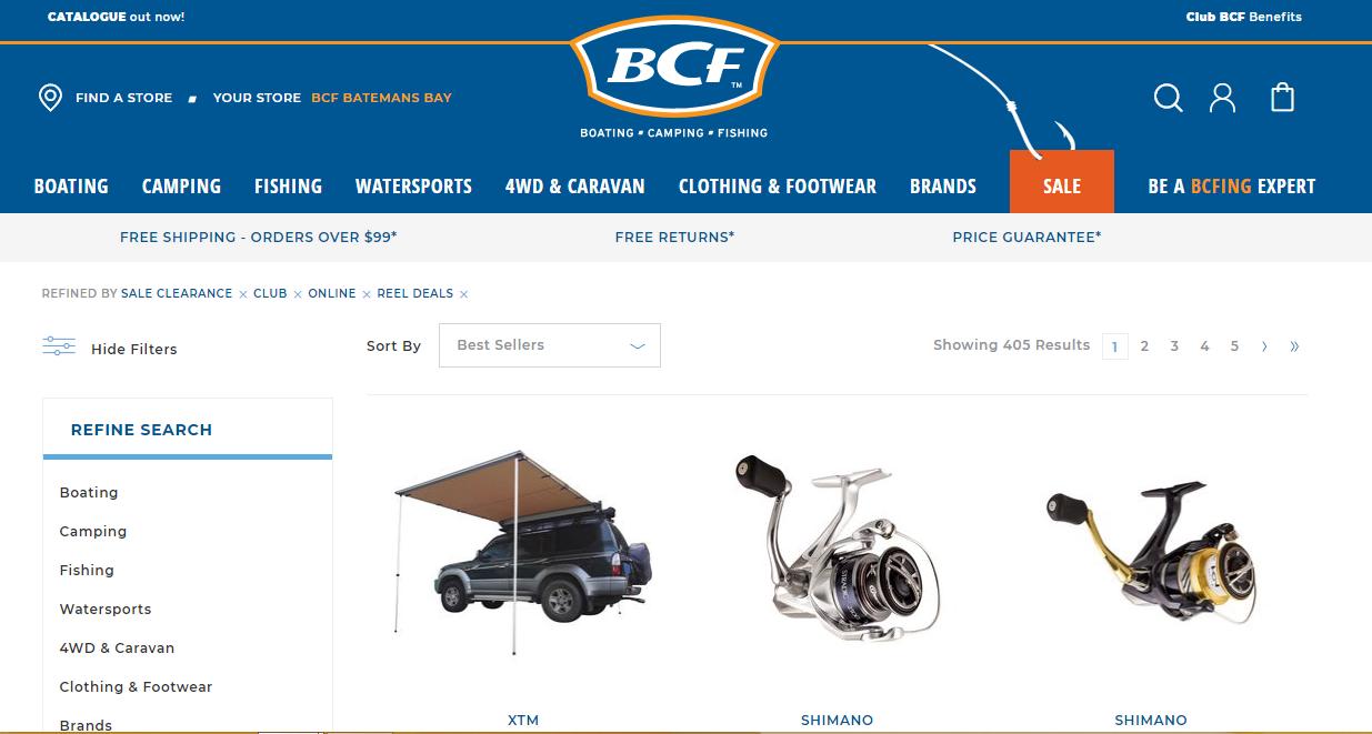BCF Sale