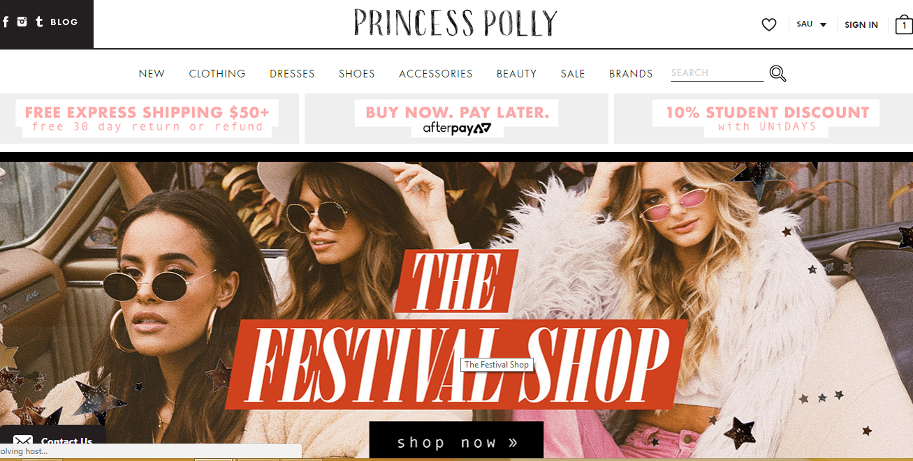 Princess Polly Shop