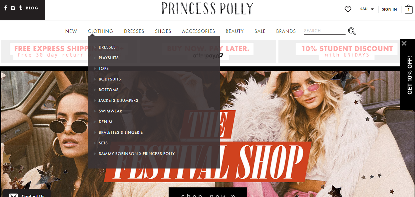 Princess Polly Clothing
