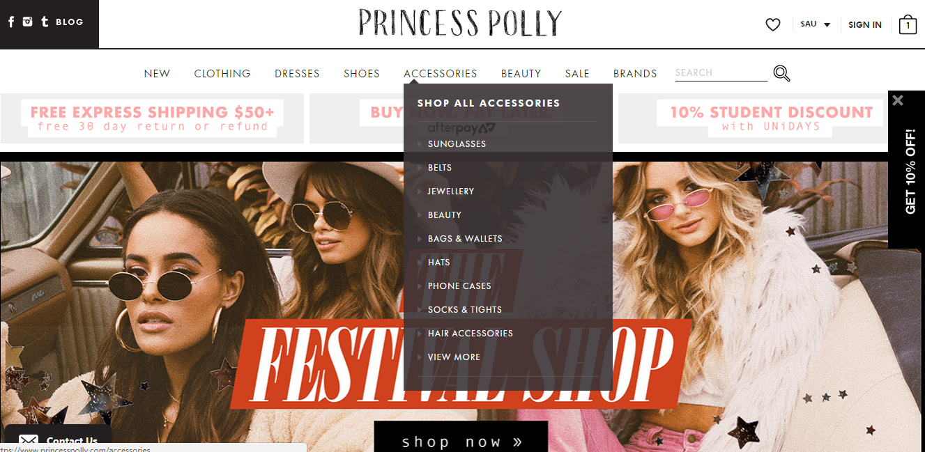 Princess Polly Accessories