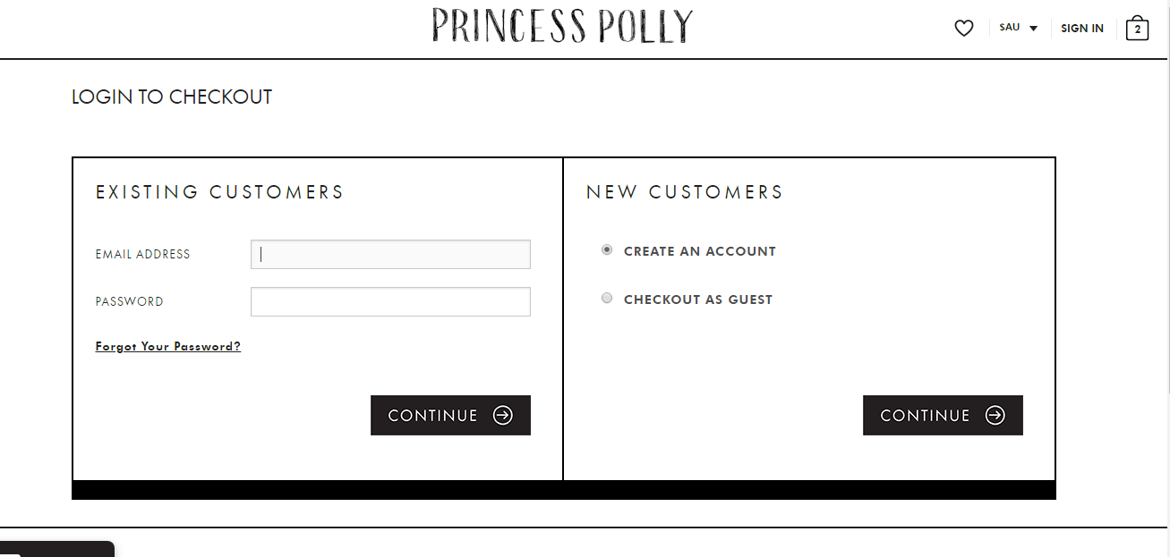 Princess Polly Login