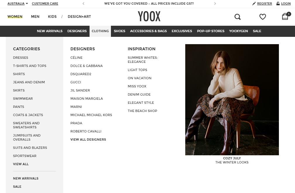 Yoox Clothing