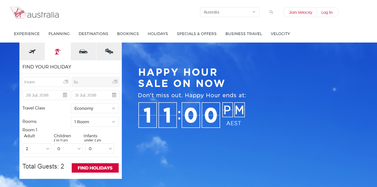 Virgin Australia Holiday