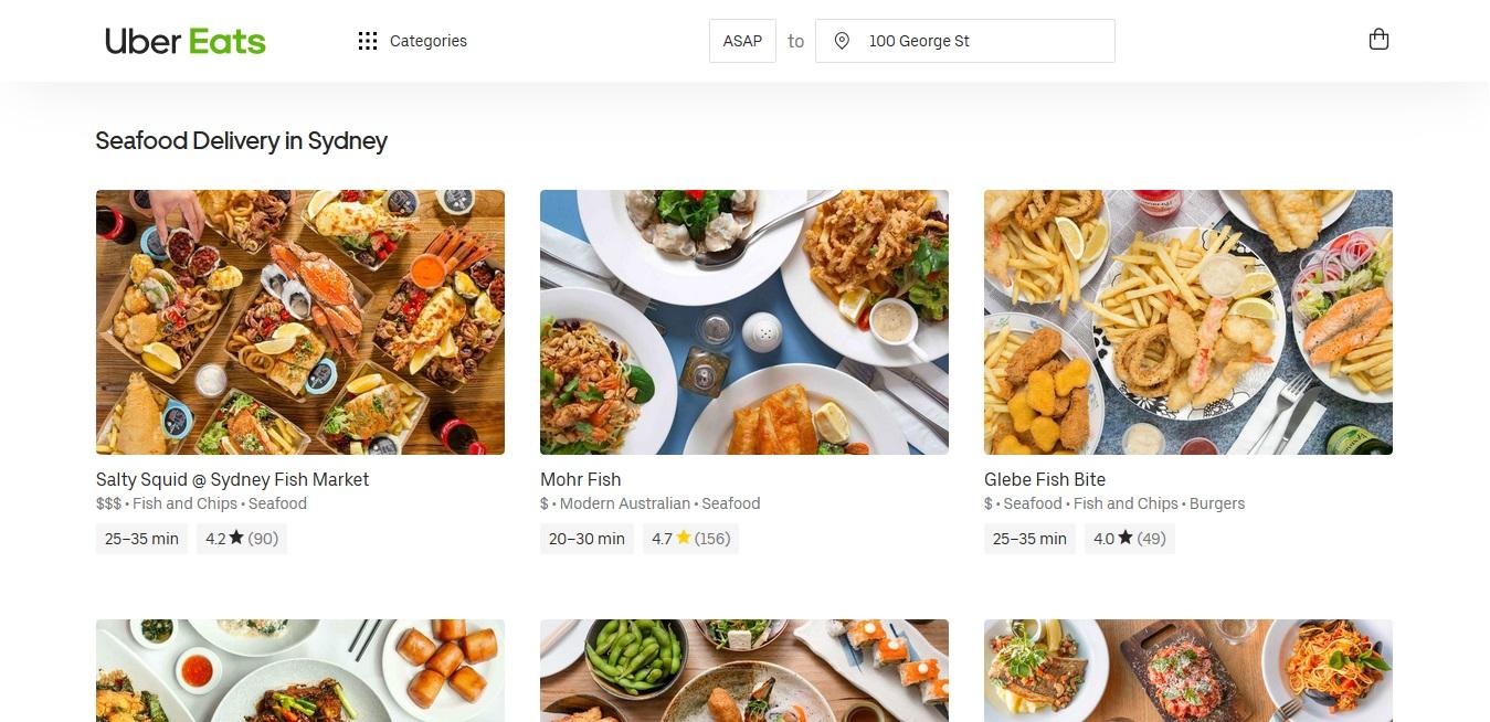 UberEats Seafood