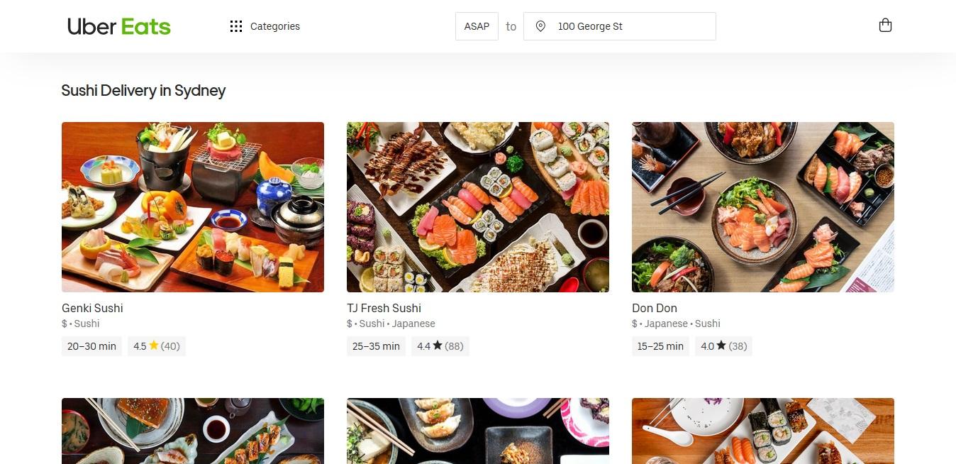 UberEats Sushi
