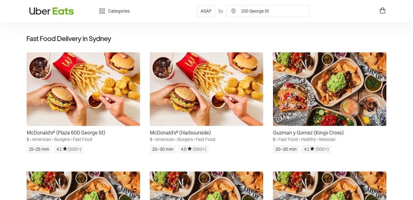 UberEats Fast Food
