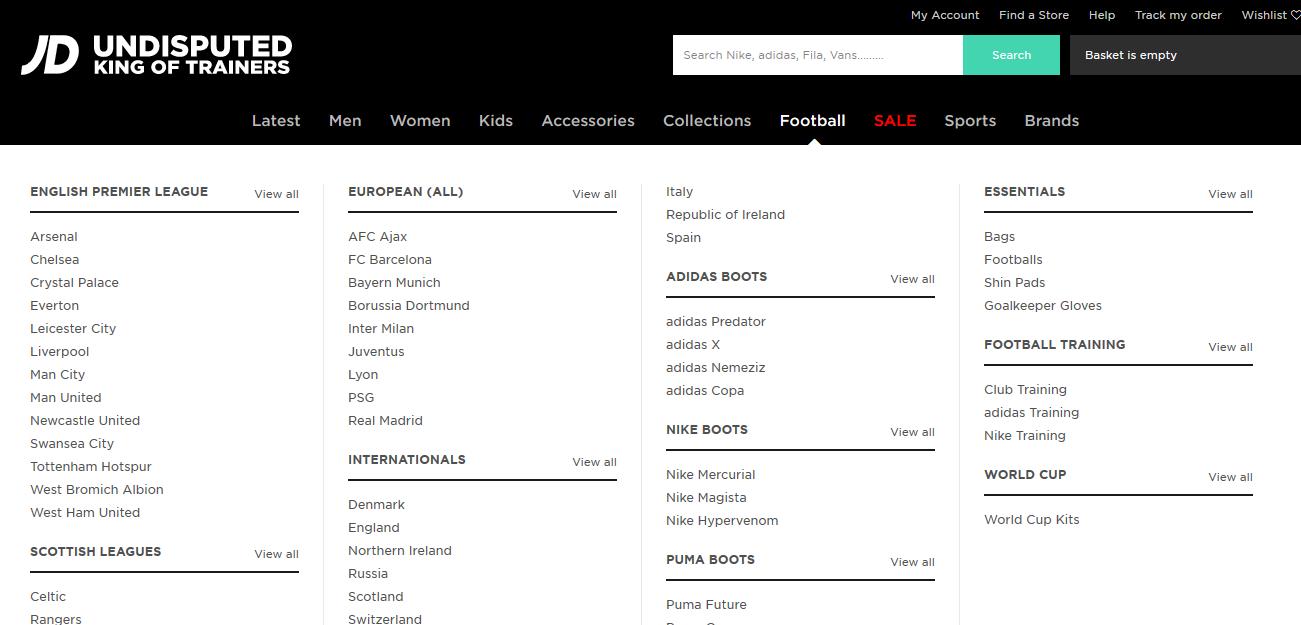 JD Sports Football
