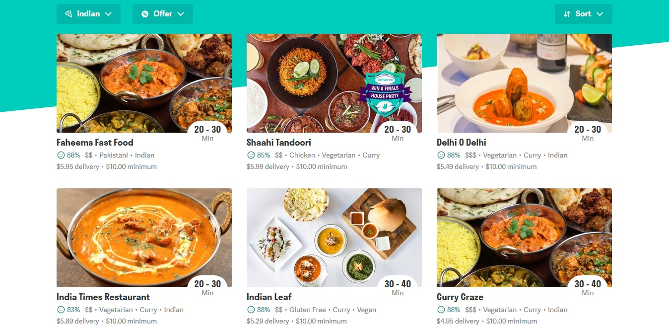 Deliveroo Indian