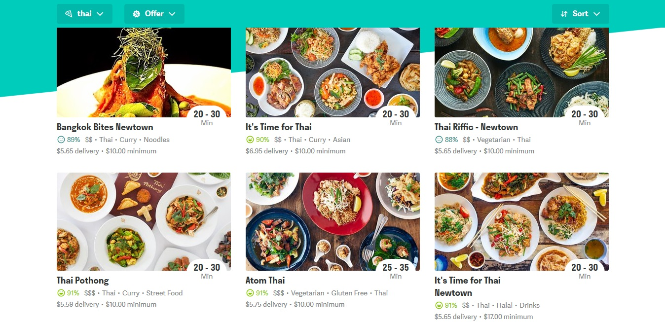 Deliveroo Thai