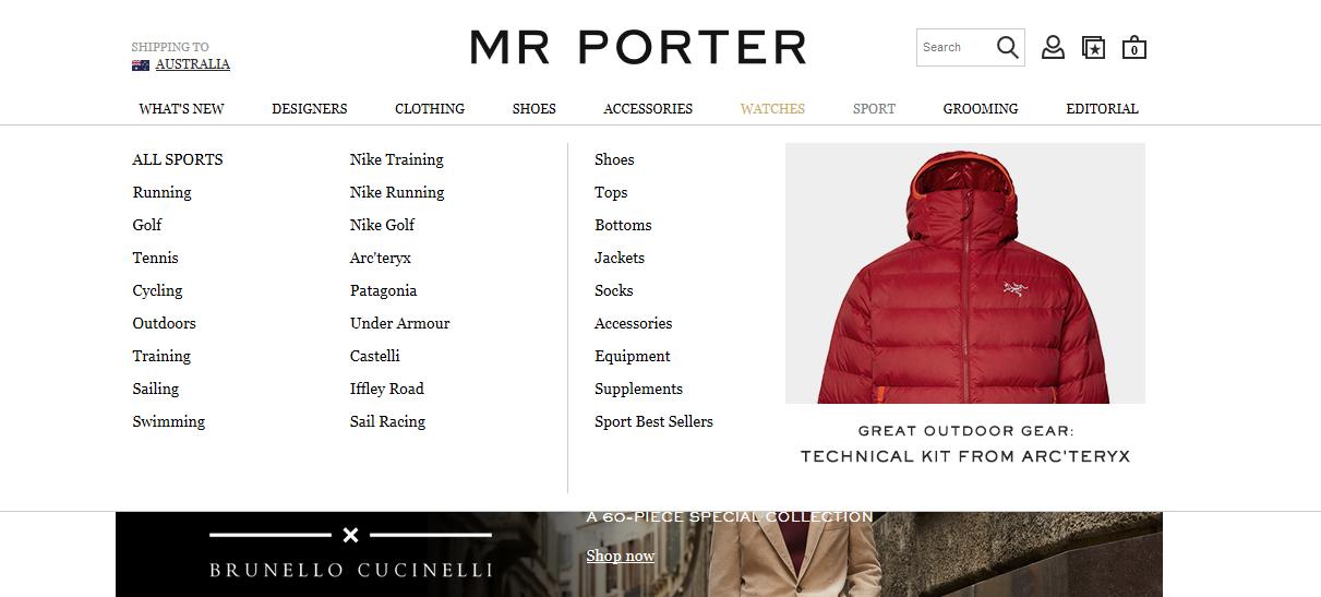 Mr Porter Cashback