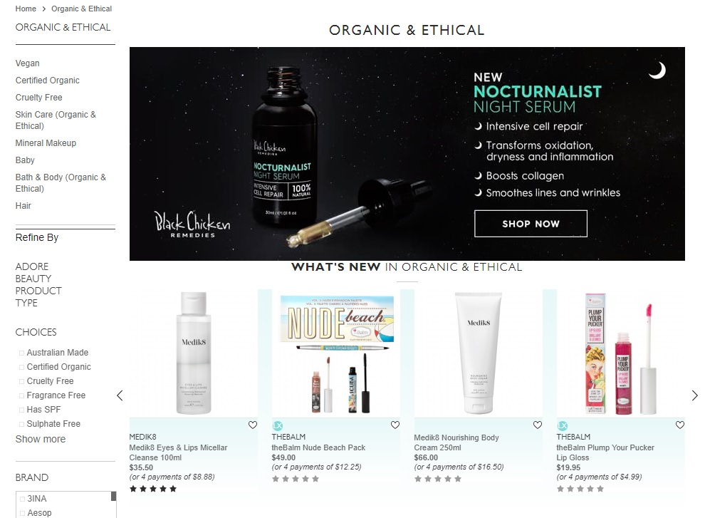 Adore Beauty Organic