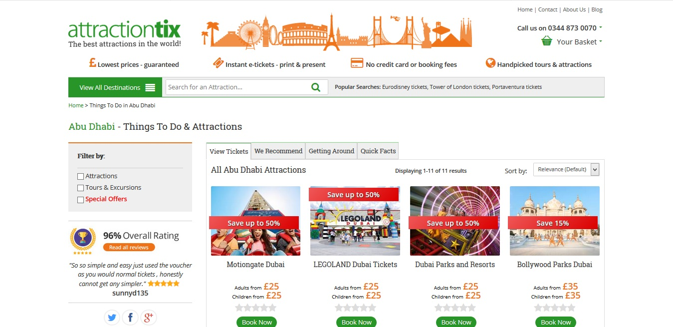 Attractiontix Abu Dhabi