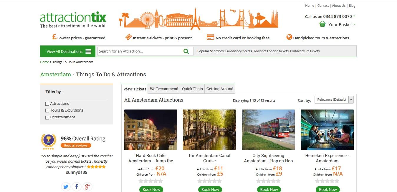 Attractiontix Amsterdam