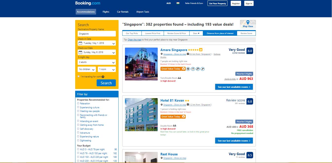 Booking com hotels