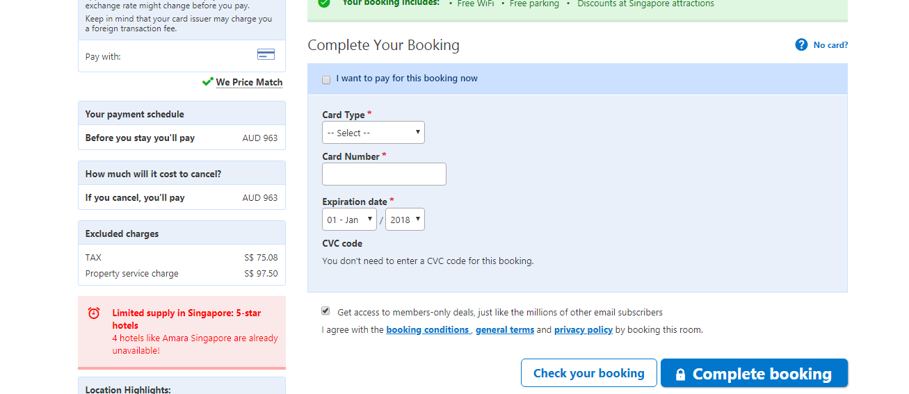 Booking com Complete Booking