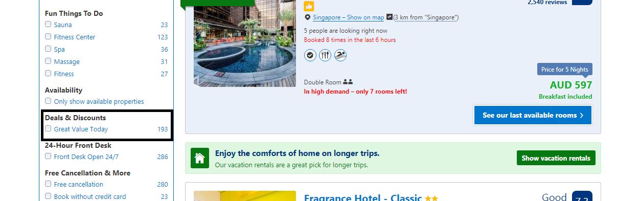 Booking com Australia Deals