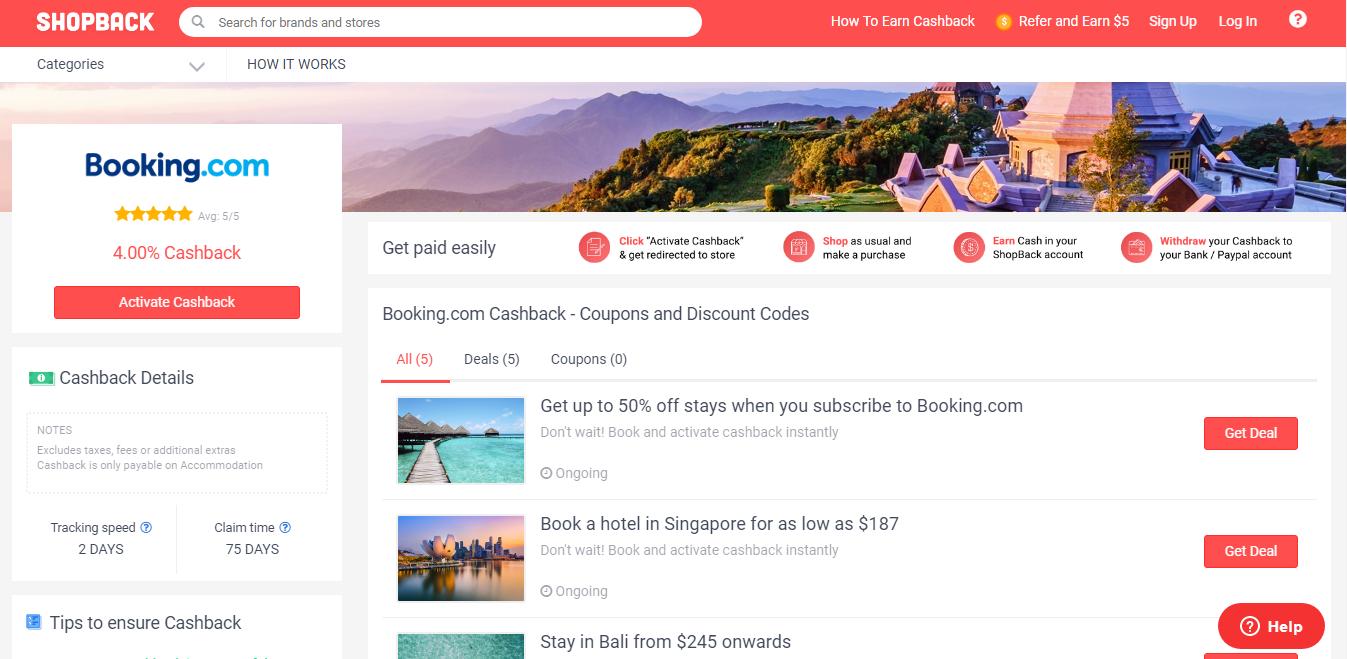 booking com shopback