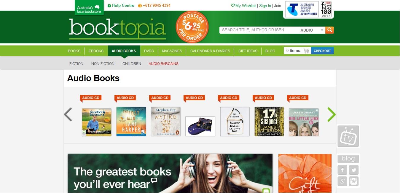 Booktopia Audio Books