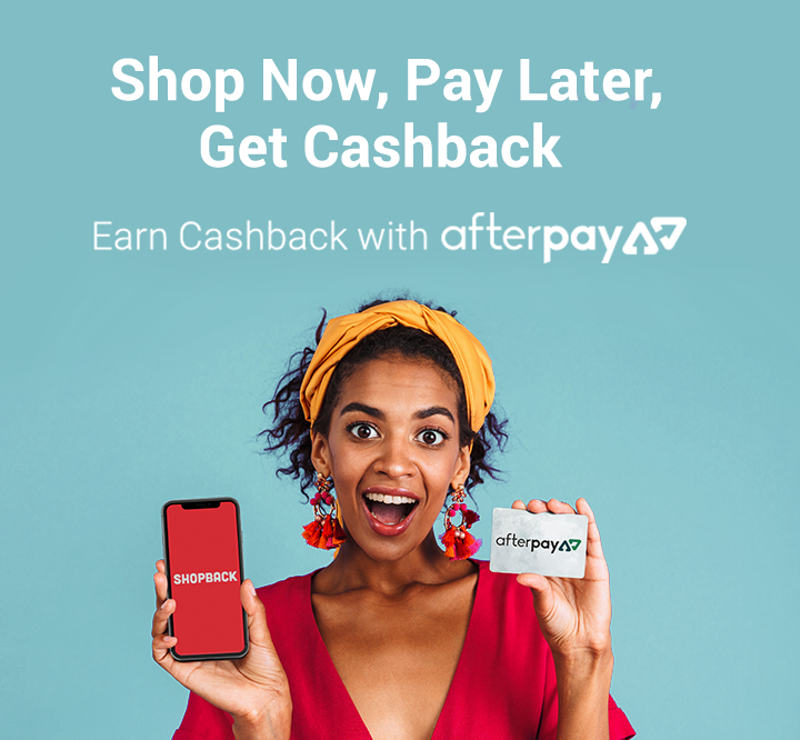 Cashback with afterpay stores