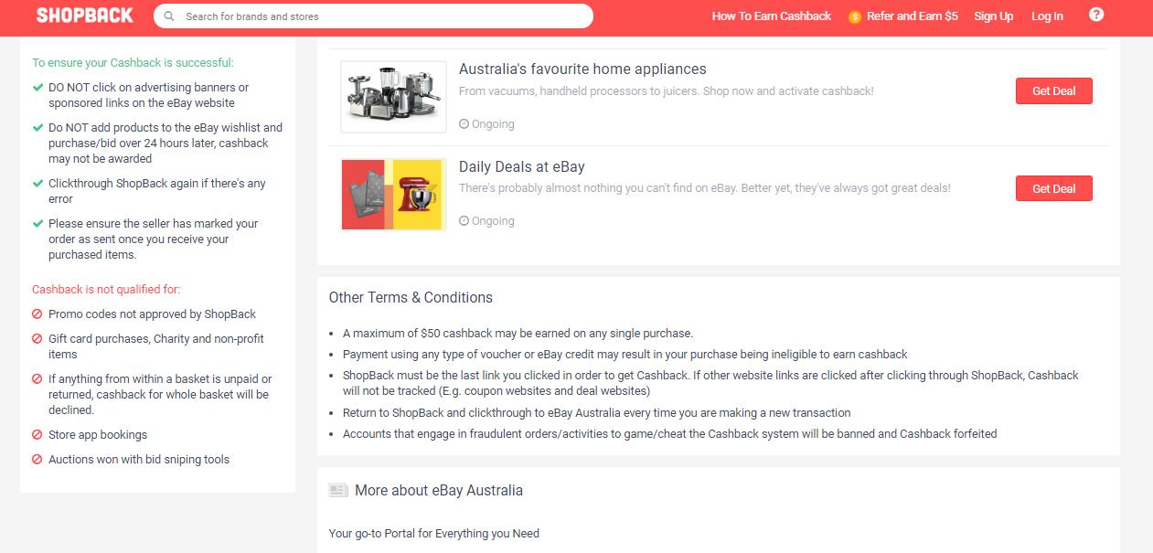eBay Cashback