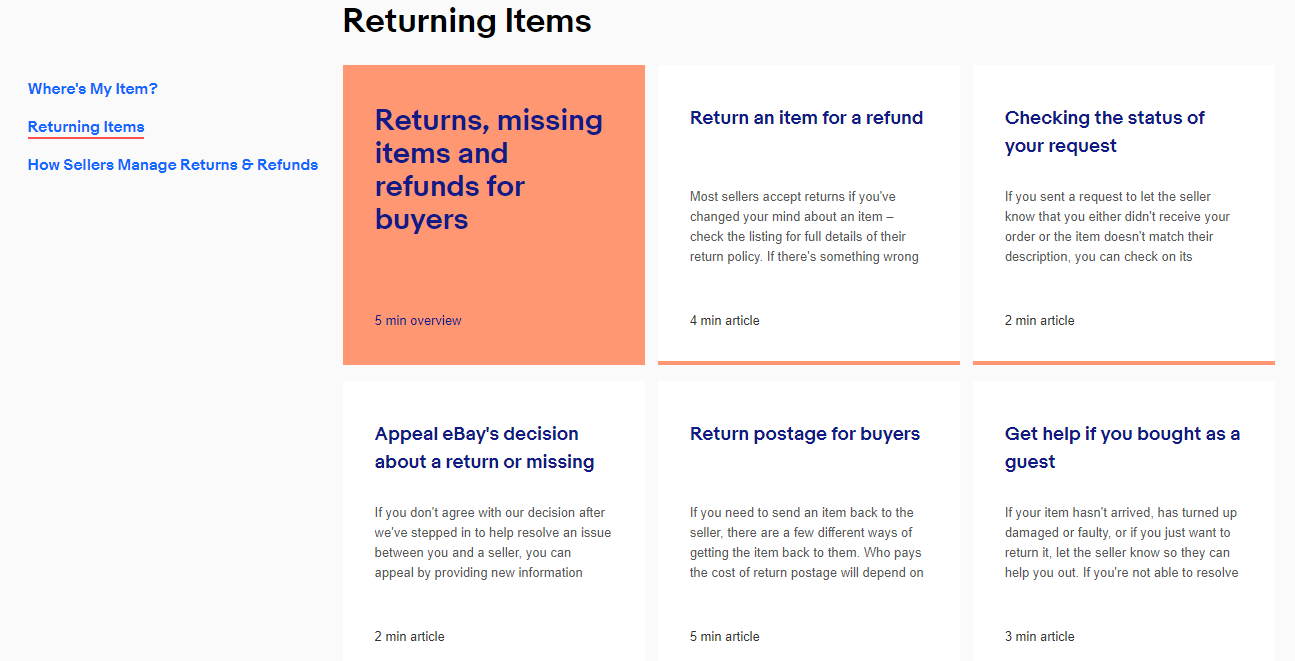 eBay Australia Returns