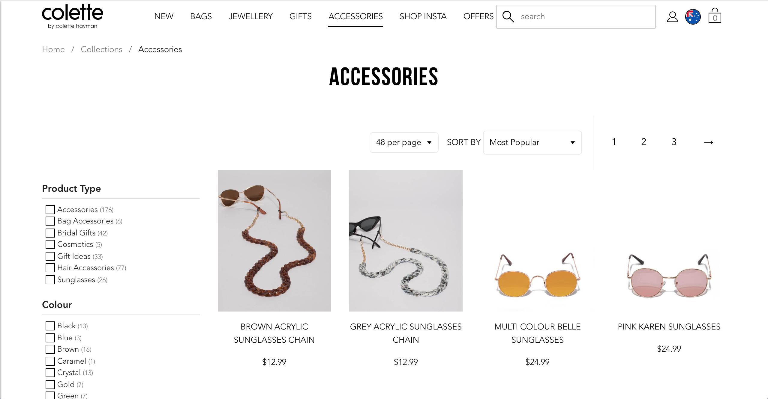 Colette Hayman Accessories