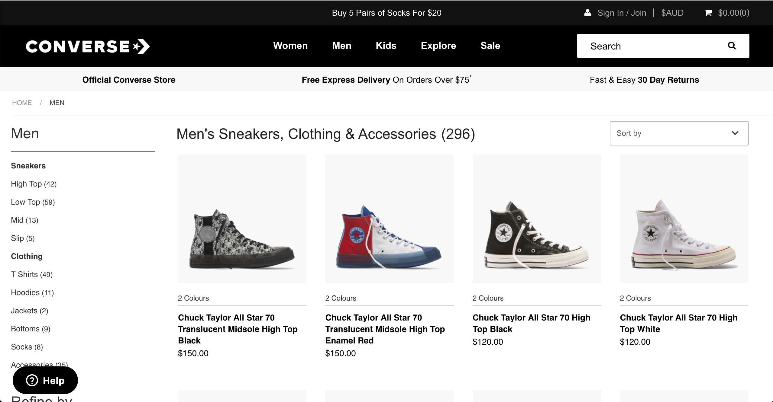 Converse men s sneakers