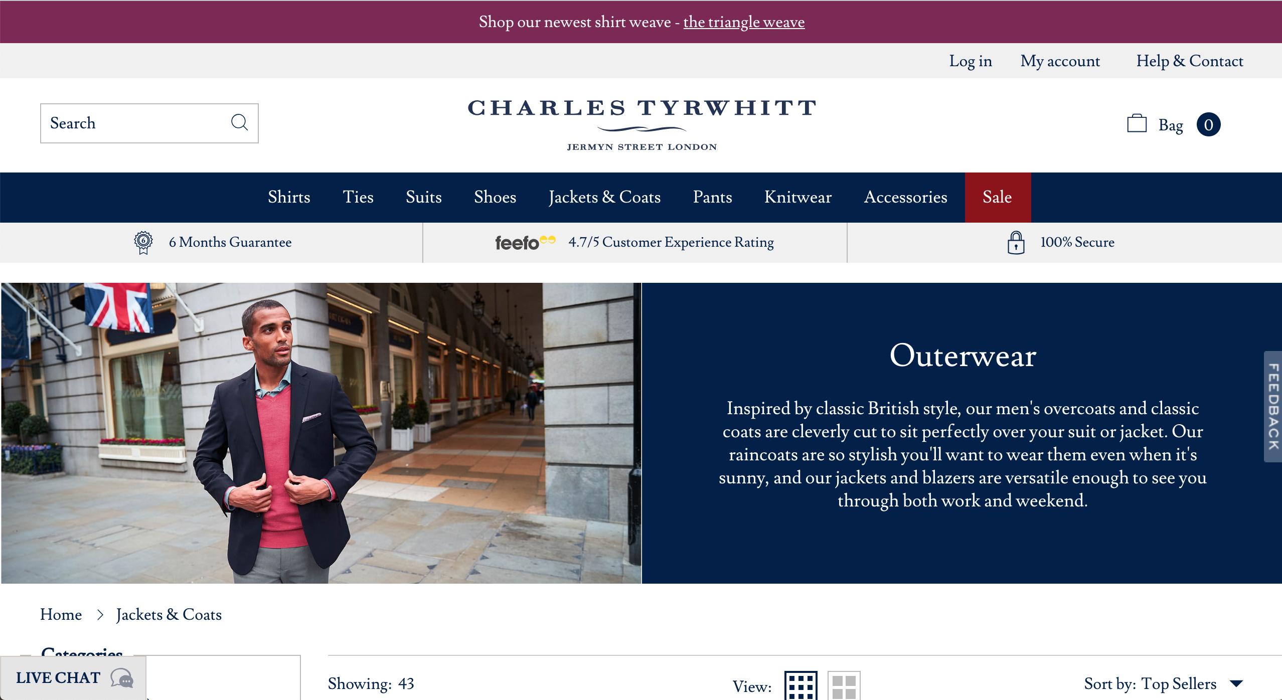 Charles Tyrwhitt Jackets & Coats page