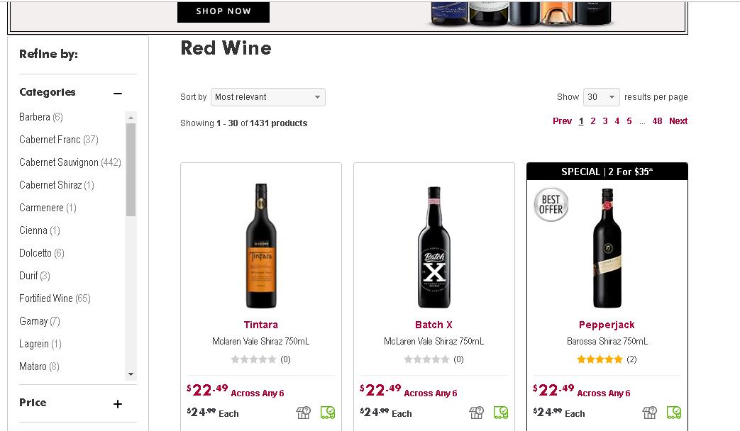 Vintage Cellars Red Wine