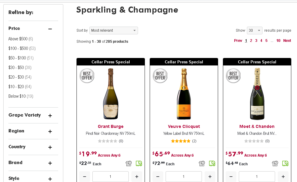 Vintage Cellars Sparkling Wine