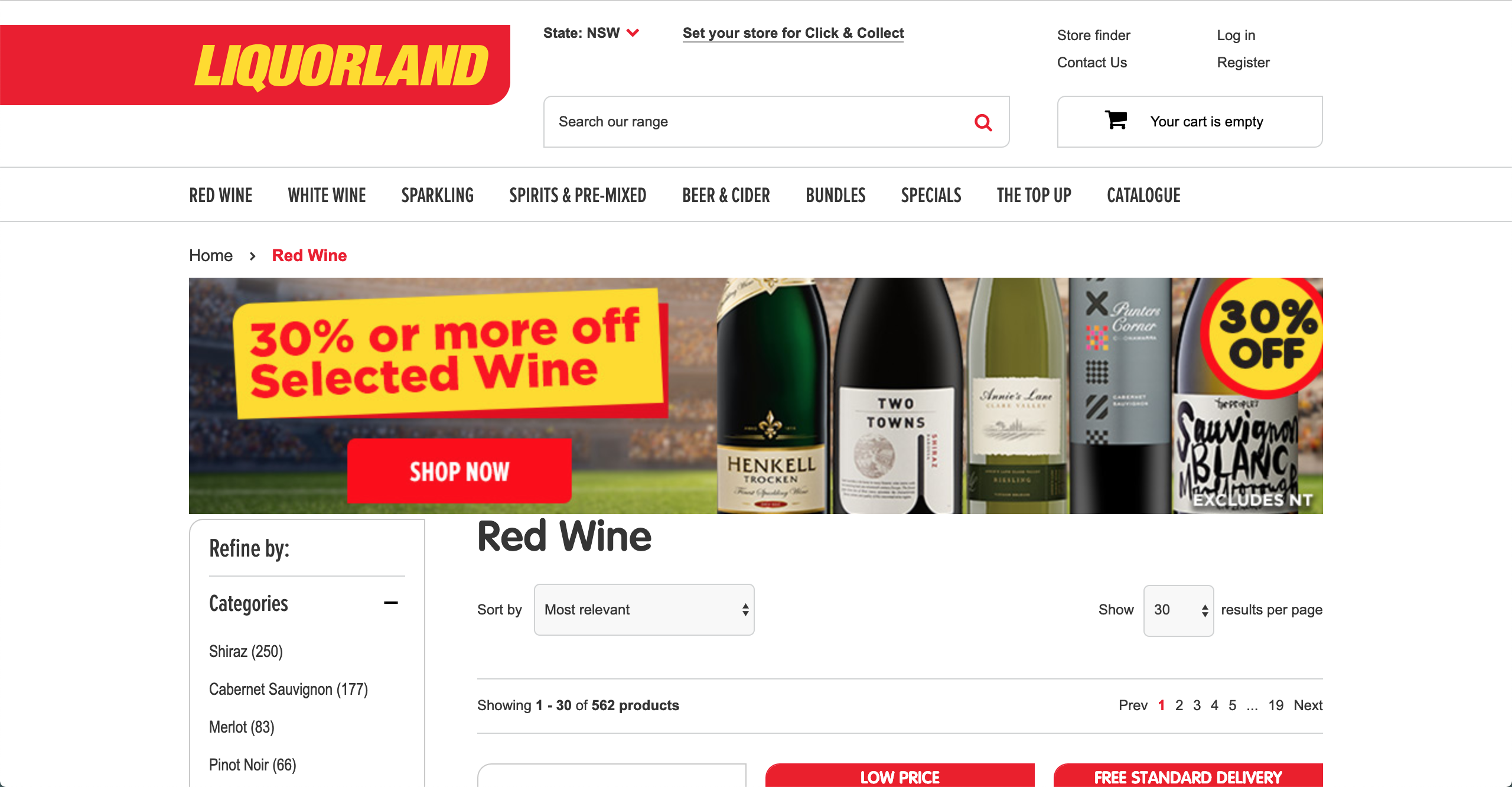 Liquorland Red Wine