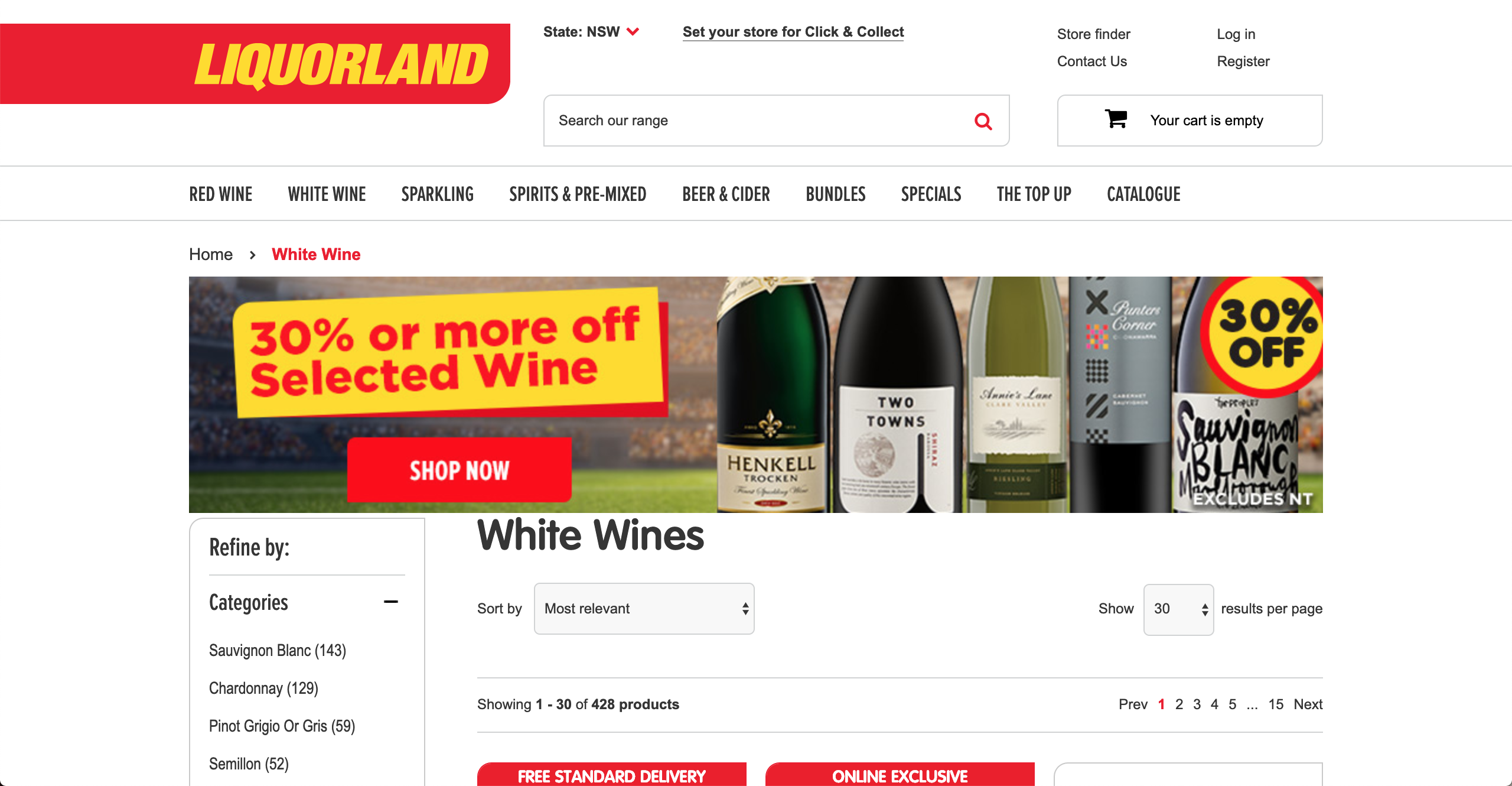 Liquorland White Wine