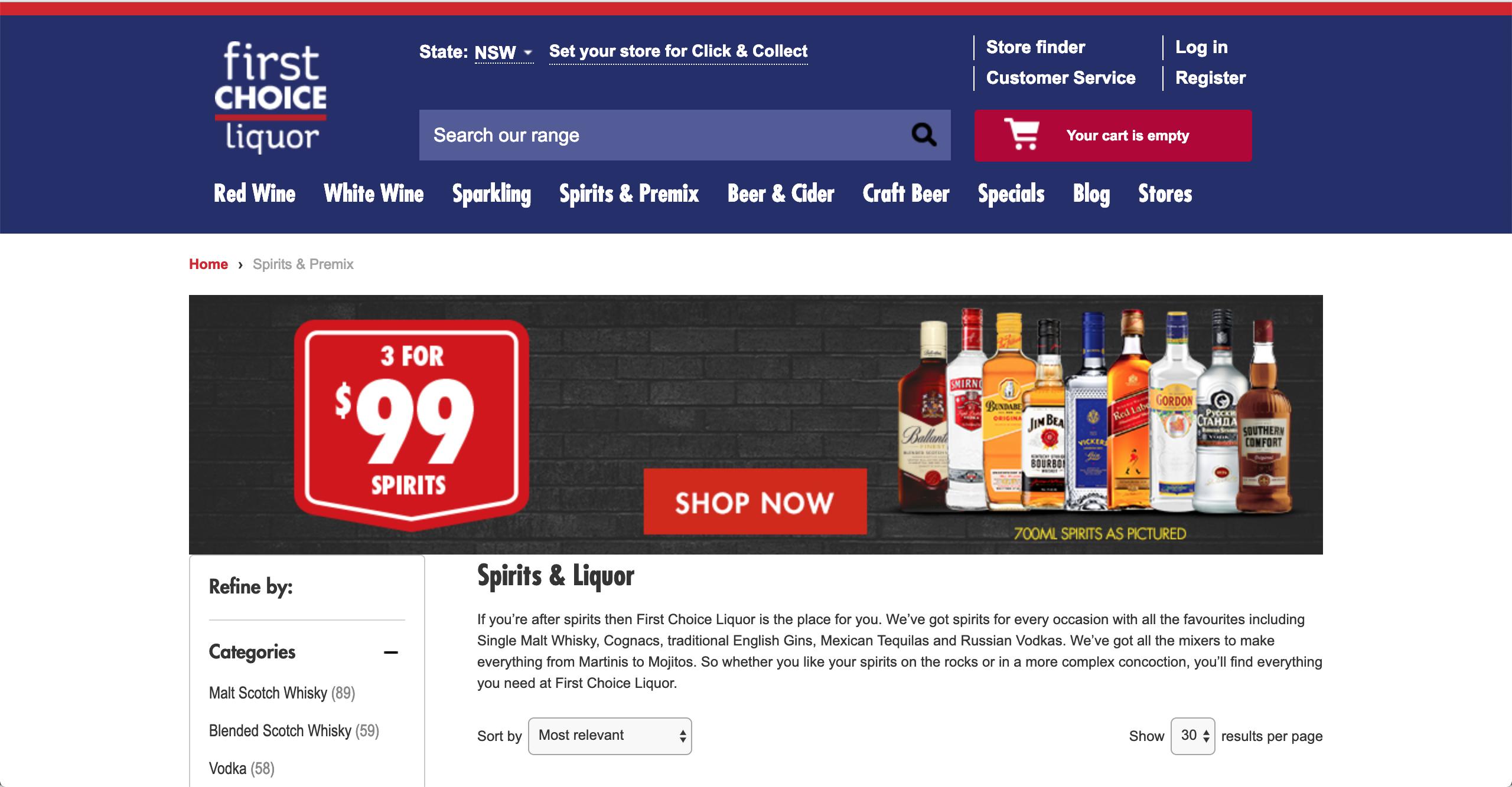First Choice Liquor Spirits & Premixed