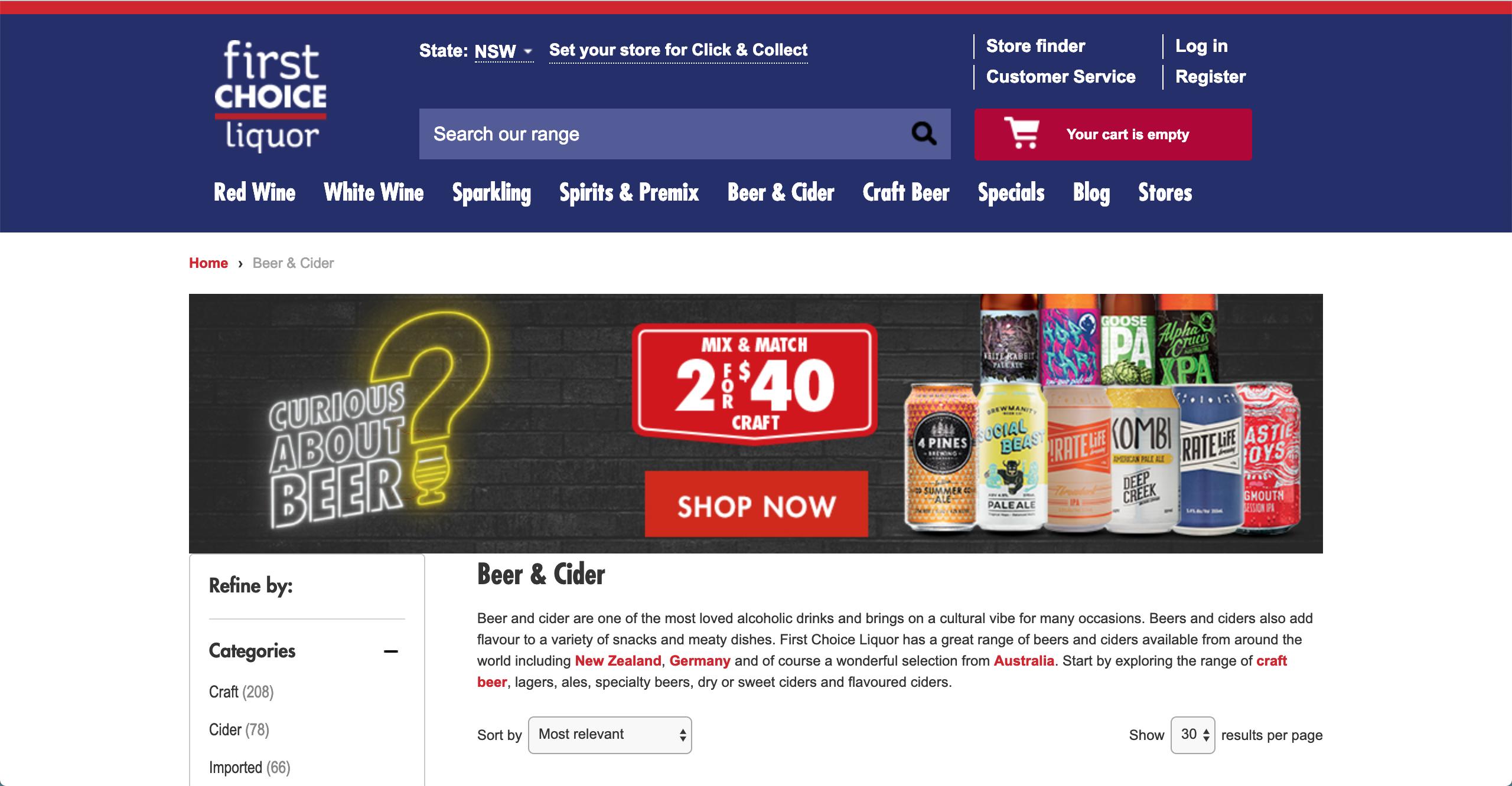 First Choice Liquor Beer & Cider