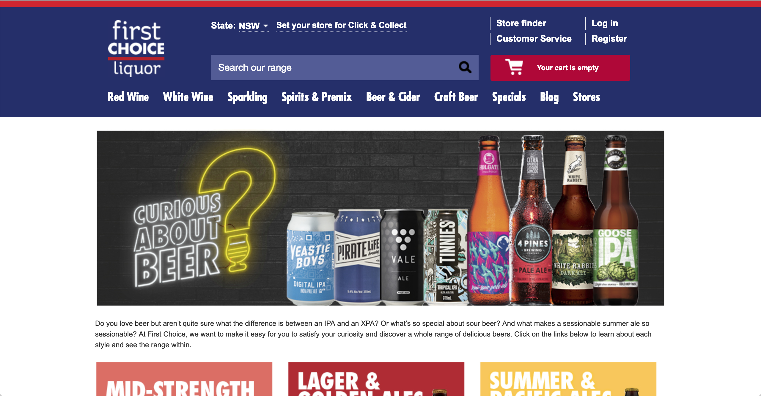 First Choice Liquor Craft Beers