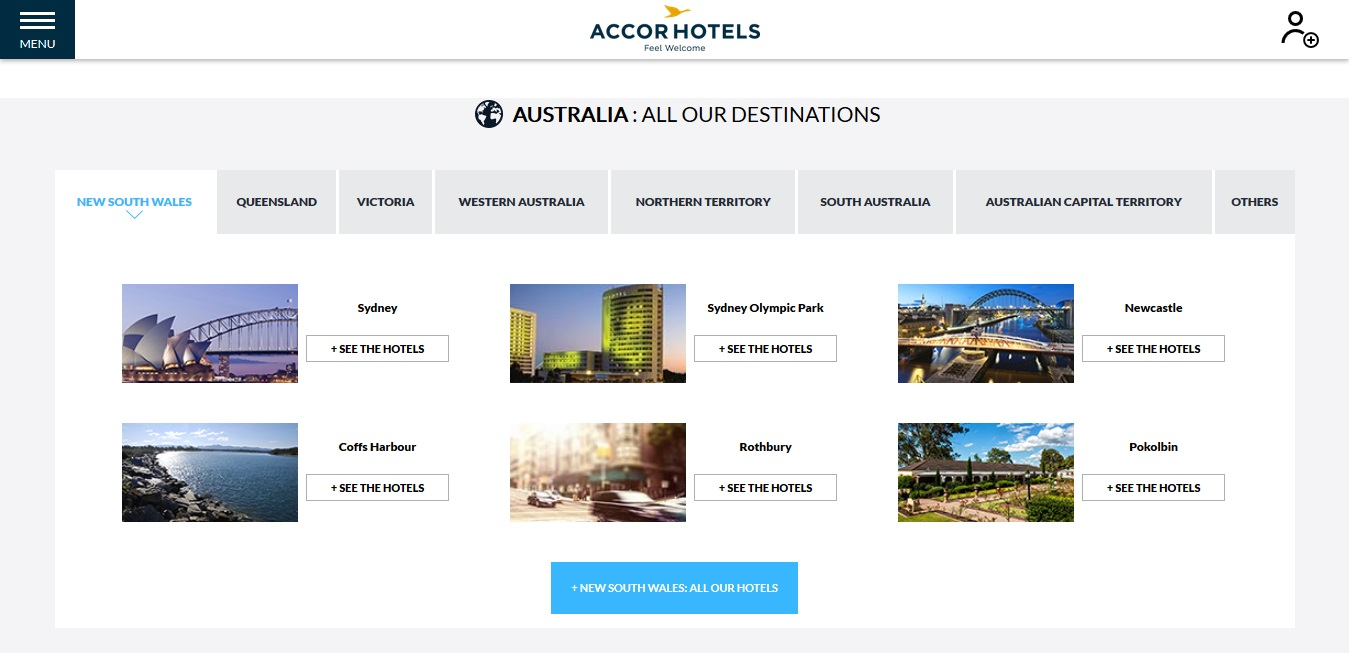 Accor Hotels New South Wales Locations