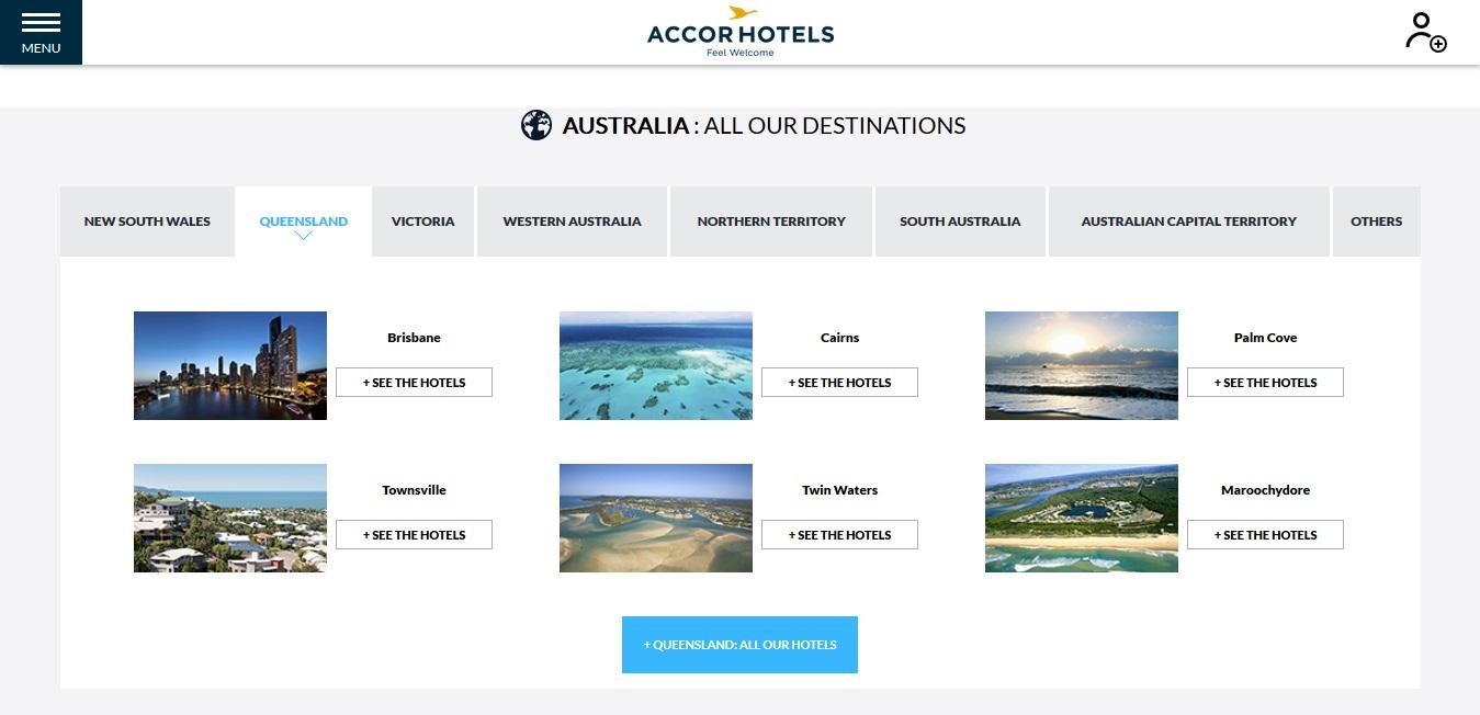 Accor Hotels Queensland Locations