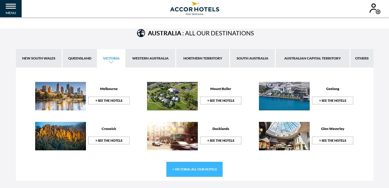 Accor Hotels Victoria Locations