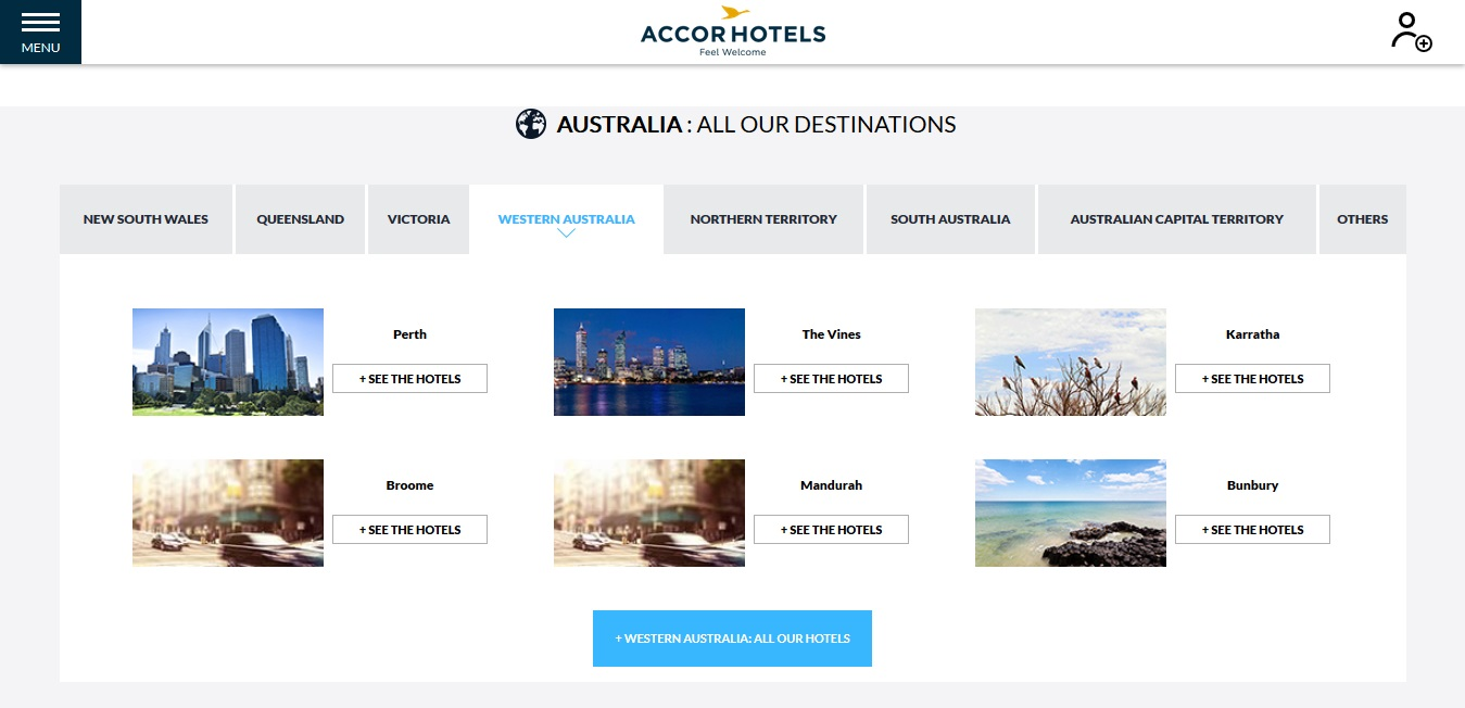 Accor Hotels Western Territory Locations