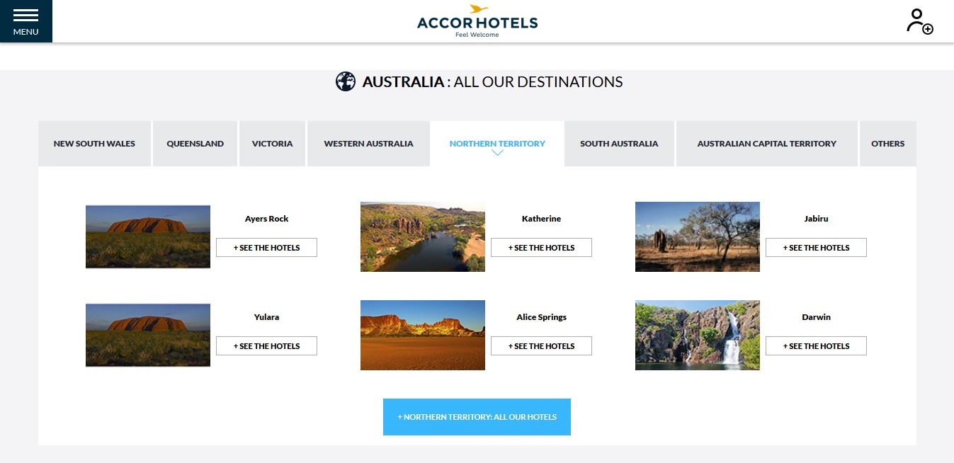 Accor Hotels Northern Territory Locations