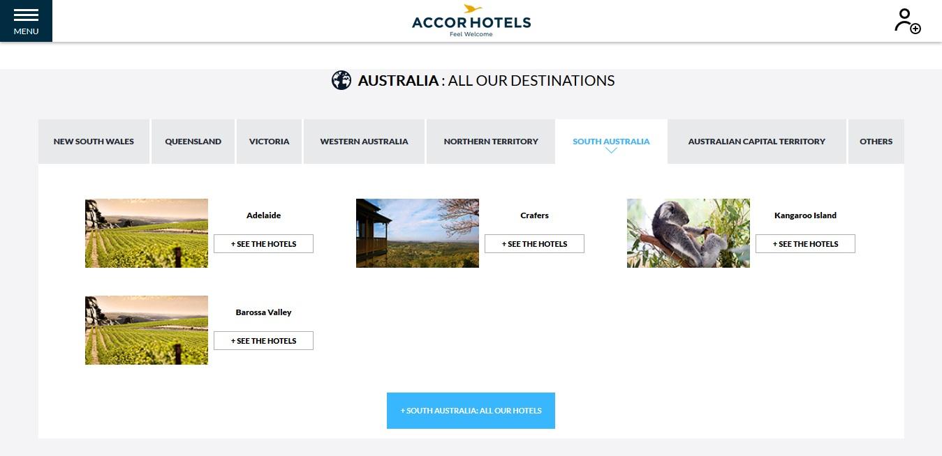 Accor Hotels South Australia Locations