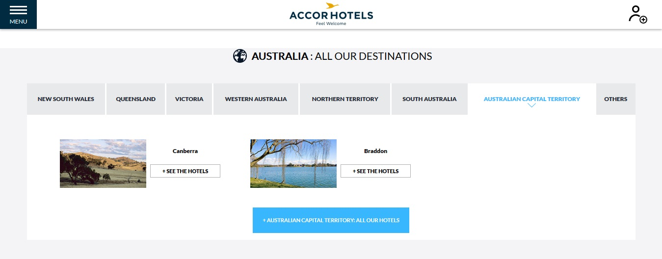 Accor Hotels Australian Capital Territory Locations