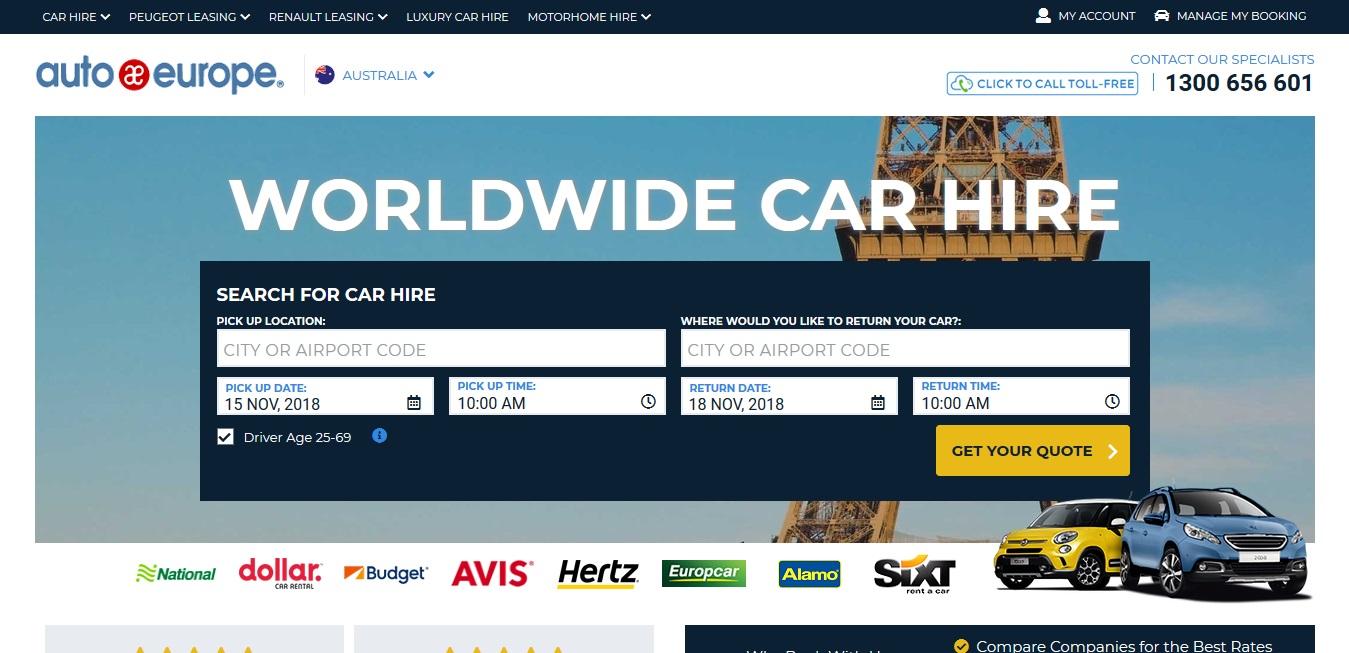 Auto Europe Car Rentals Car Hire